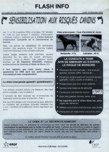 Extrait revu ERDF sensibilisation risques canins