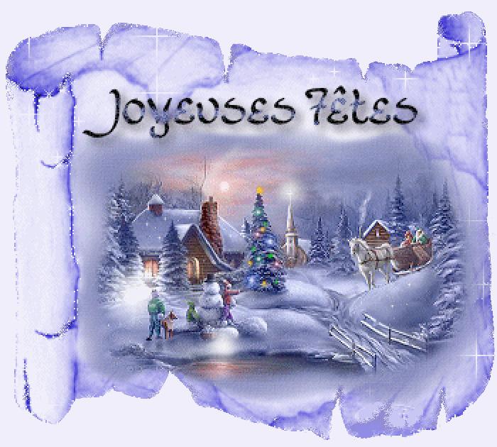 Картинка с рождеством на французском языке
